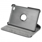 Protective 360 Degree Rotation Holder PU Leather Case for Samsung P6800 Galaxy Tab 7.7 - Black