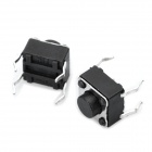 PA66 DC 12V 50mA Tact Switch - Black (100PCS / 6*6*5mm)