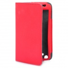 Protective 360 Degree Rotation Holder PU Leather Case Samsung i9220 - Red