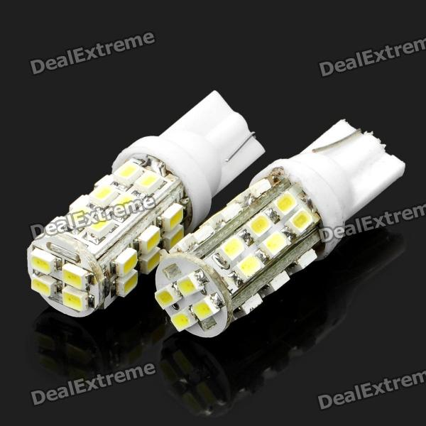 T10 14W 7000K 336-Lumen 28-1206 SMD LED White Light Car Dashboard Lamps (DC 12V / Pair) 20pcs t5 5050 1smd wedge dashboard led white red blue green yellow pink car auto light interior dashboard bulb side lamps dc 12v
