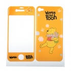 Winnie the Pooh Style Decorative Protective Front + Back Cover Skin Sticker for iPhone 4 / 4S