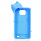 Cute Kiki Cat Style Protective Silicone Case for Samsung i9100 - Blue