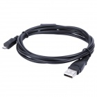 Micro USB Data Cable for Digital Camera - Black (142CM-Length)