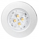 6W 3300K 300-Lumen 4-LED Warm White Light Ceiling Down Lamp (85~265V)