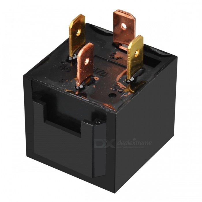 80A 4-Pin Car Power Relay (12V) jtron 4 pin power relay black 12v 30a