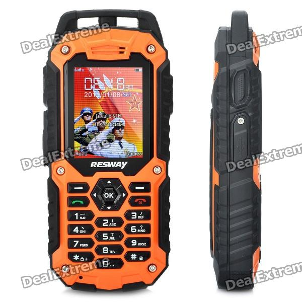 RESWAY Ultra-Rugged T99 IP57 GSM Cell Phone w/ 2.0 LCD, Dual SIM, Java and FM - Orange (512MB TF) viruses cell transformation and cancer 5
