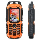 "RESWAY Ultra Rugged T99 IP57 GSM Cell Phone w / 2,0 ""LCD, Doppel-SIM, Java und FM - Orange (512 MB TF)"