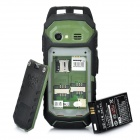 "RESWAY Ultra-Rugged T99 IP-57 GSM Cell Phone w/ 2.0"" LCD, Dual SIM, Java and FM - Green (512MB TF)"