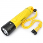 POP Lite F8 600LM 3-Mode White LED Diving Flashlight w/ Charger - Yellow (3 x 18650)
