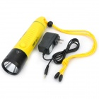 POP Lite F8 600LM 3-Mode lanterna LED branco Diving w / carregador - Amarelo (3 x 18650)