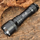UltraFire SH-3A Cree XR-E Q5 230LM 5-Mode Memory White LED Flashlight w/ Strap - Black (3 x AAA)