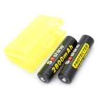 Soshine 18650 3.7V 2800mAh Rechargeable Li-ion Batteries with Battery Case (Pair)