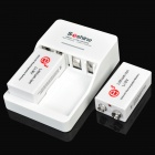 Soshine SC-V1 500mAh 9V Lithium-ion Rechargeable Batteries with Battery Charger