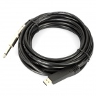 USB 2.0 Guitar Audio Cable - Black (500cm-Length)