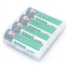 "Soshine 1.2V ""2500mAh"" Rechargeable Ni-MH AA Batteries with Battery Case (4-Piece Pack)"