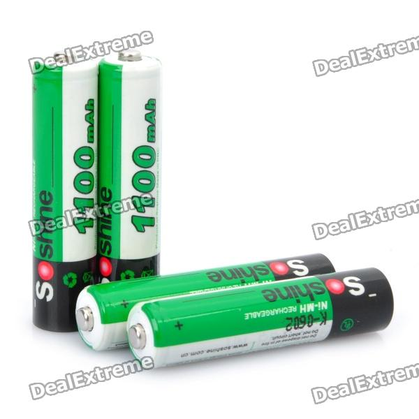 Soshine 1.2V 1100mAh Rechargeable Ni-MH AAA Batteries with Battery Case (4-Piece Pack) 8pcs pkcell battery aaa pre charged nimh 1 2v 1200mah ni mh 3a rechargeable batteries up to 1000mah capacity cycle 1200times