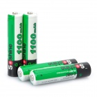 "Soshine 1.2V ""1100mAh"" Rechargeable Ni-MH AAA Batteries with Battery Case (4-Piece Pack)"