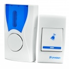 32-Melody Wireless Doorbell Transmitter / Receiver Set - White (1 x 23A 12V / 2 x AAA)