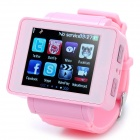 "i5 GSM Watch Phone w/1.8"" Resistive Screen, Quadband, Single SIM, Java and FM - Pink"