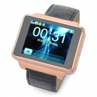 "Watch Style S9130 GSM Phone w/ 1.8"" Resistive Screen, Single SIM, Quadband and FM - Golden + Black"