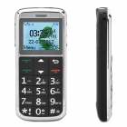"Daxian GS2000 1.8"" LCD Screen Dual-band GSM Cell Phone with Torch/FM/SOS for Seniors - Black"
