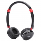 Fashion Rechargeable Wireless Music Headset w/ TF / Mini USB / Line-in - Black