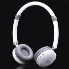 Fashion Rechargeable Wireless Music Headset w/ TF / Mini USB / Line-in - White
