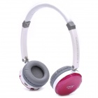 Fashion Rechargeable Wireless Music Headset w/ TF / Mini USB / Line-in - Rosy + White