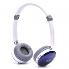 Fashion Rechargeable Wireless Music Headset w/ TF / Mini USB / Line-in - Blue + White