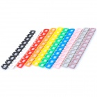 Color Numeric Cable Label Markers Set for Network Cable - Random Color (10-Piece Pack)