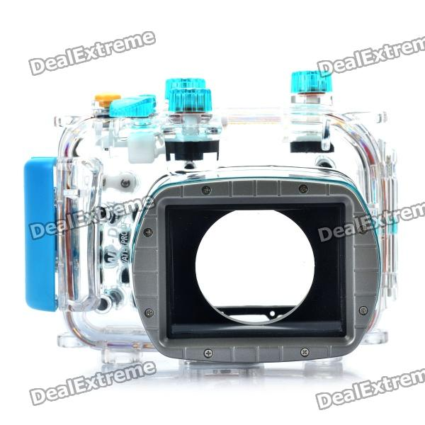 MeiKe Waterproof Diving Camera Case for Canon PowerShot G11/G12 - Blue (40m Underwater)