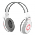 "SD-900 Rechargeable 1.2"" LCD Headphone Headset with FM / TF - White"