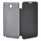 Designer's Protective Case Cover for Samsung i9220 Galaxy Note - Black + Grey Black