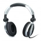 DJ-9200 Stylish Stereo Headphone with 3.5mm Plug / 6.3mm Adapter - Silver + Black