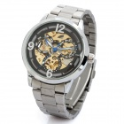 Stainless Steel Waterproof Mechanical Wrist Watch - Silver