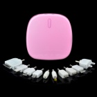 Portable 6000mAh Emergency Battery Pack w/ Adapters for Cell Phone + More - Pink