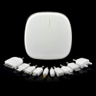 Portable 6000mAh Emergency Battery Pack w/ Adapters for Cell Phone + More - White