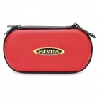 Protective Leather Hard Pouch Case for PS Vita - Red
