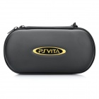 Protective Artificial Leather Hard Carrying Pouch w/ Carabiner Clip for PS Vita - Black