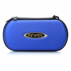 Protective Artificial Leather Hard Carrying Pouch w/ Carabiner Clip for PS Vita - Blue
