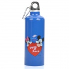 Sports Double Layer Stainless Steel Vacuum Travel Bottle w/ Carabiner Clip - Random Color (500ml)