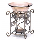 Modern Glass Fragrance Aroma Stove with Steel Holder - Random Color