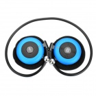 USB Rechargeable Bluetooth V2.0 MP3 Player Headset w/ TF Slot - Blue
