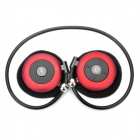 USB Rechargeable Bluetooth V2.0 MP3 Player Headset w/ TF Slot - Red