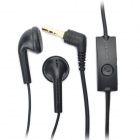 Genuine Samsung i9000 Earphone w/ Microphone - Black (3.5mm-Plug / 145cm-Cable)