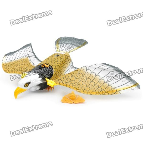 Cute Fashion Plastic Toy Águila Eléctrica w / cable - Negro + Blanco + Amarillo (2 x AA)