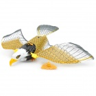 Fashion Cute Plastic Electric Eagle Toy w/ Cable - Black + White + Yellow (2 x AA)