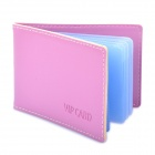 Stylish PU Leather Business Credit Card Holder Case Bag (10-Pocket / Random Color)