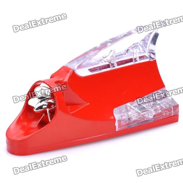 Wind Powered Shark Fin Shaped 12-LED RGB Light Car Decoration Lamp - Red