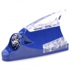 Wind Powered Shark Fin Shaped 12-LED RGB Light Car Decoration Lamp - Blue